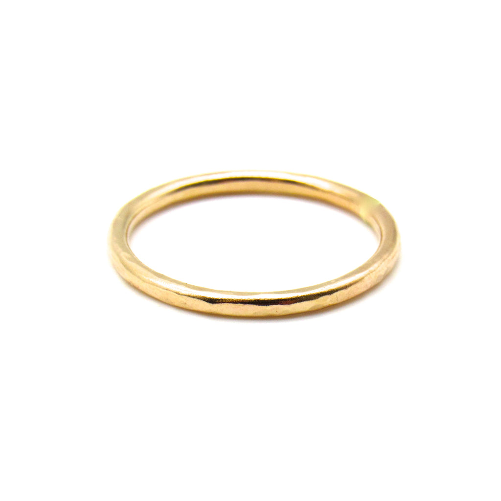 Stackable Hammered | Gold Ring