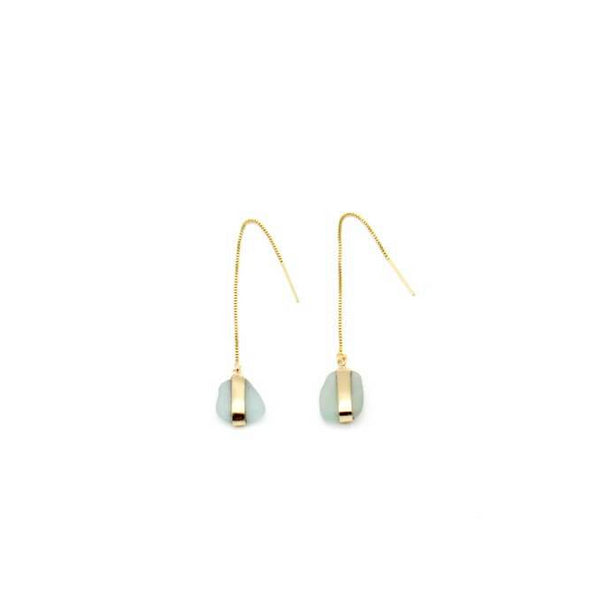 Gold Drop Down Earrings