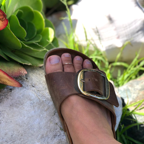 Hammered Gold | Toe Ring
