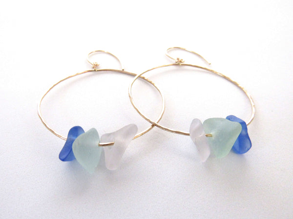 Kiah Earrings - Cobalt Blue Ombre (Ready to Ship!)