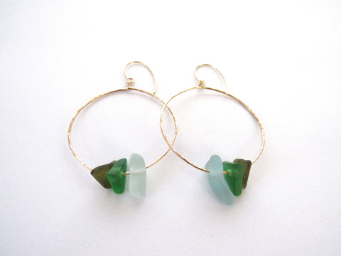 Kiah Earrings - Emerald Green Ombre (Ready to Ship!)