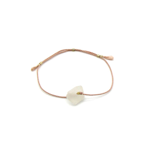 Gratitude Bracelet | Sea Glass + Gold Bracelet