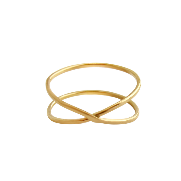 Hammered Gold Infinity Ring