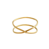Hammered | Infinity Gold Ring