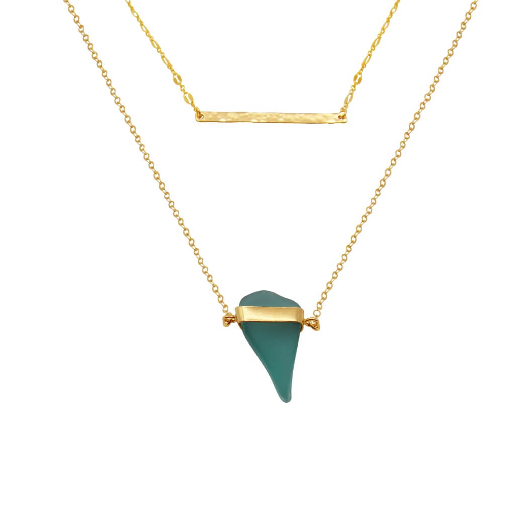 Gold Sea Glass Necklace