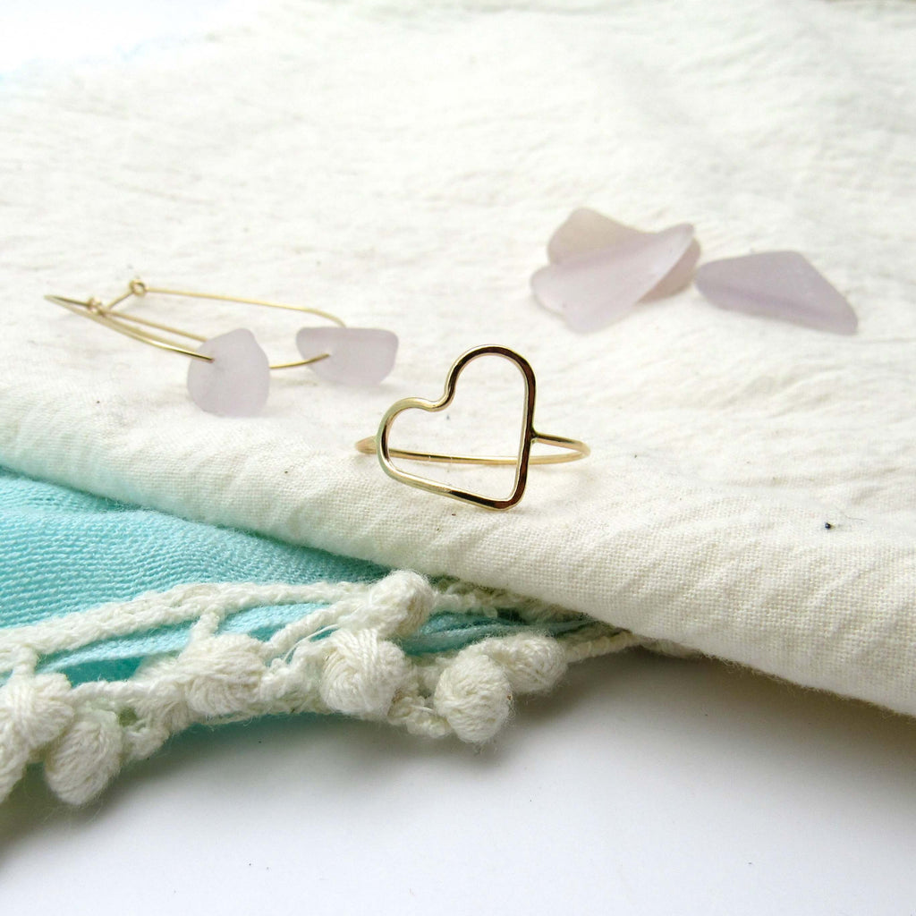 My Heart | Dainty Gold Ring
