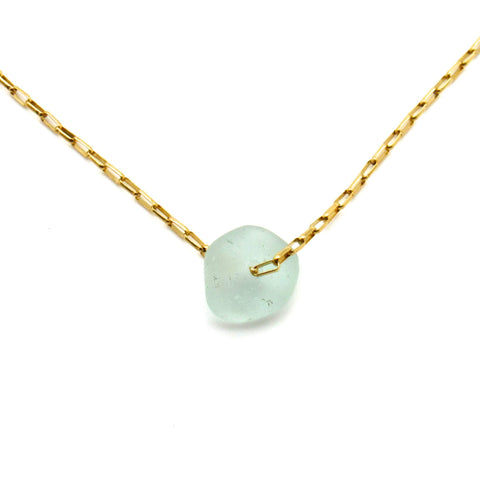 Rose | Sea Glass + Gold Choker