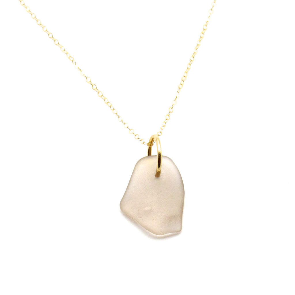 Valentina | Rose Sea Glass + Gold Necklace