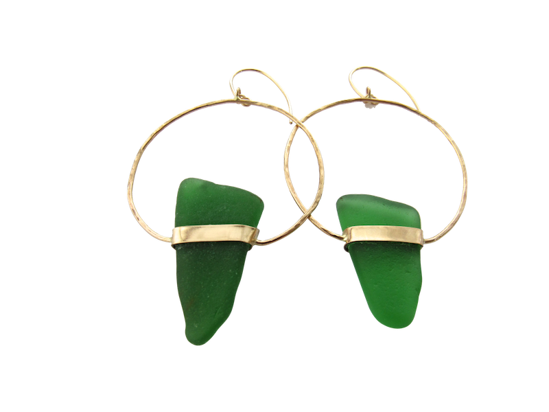 Marie Sea Glass Earrings