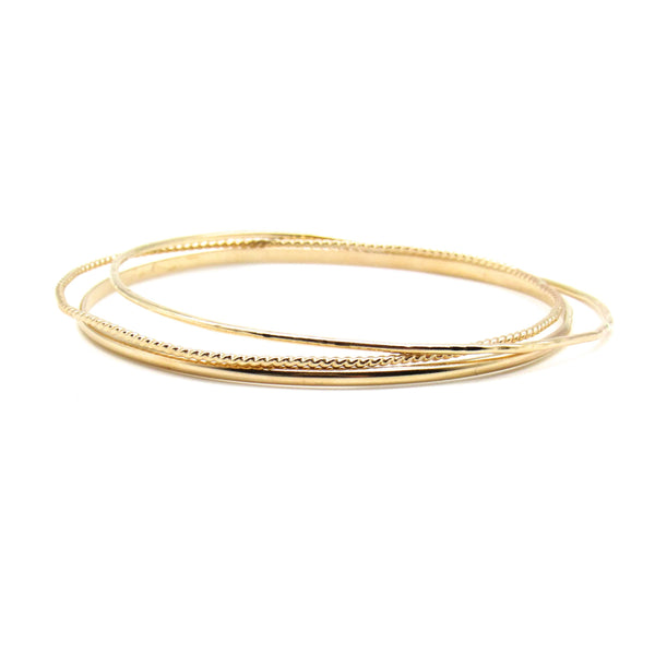 Stay Golden Bangle Bracelets-Ingrid Caduri Jewelry