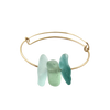 Manifest Love Sea Glass Gold Bracelet