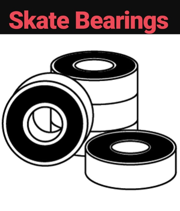 Skateboard Bearings Abec-7, Abec-9, Swiss for inline skates, roller skates, pro scooters & more