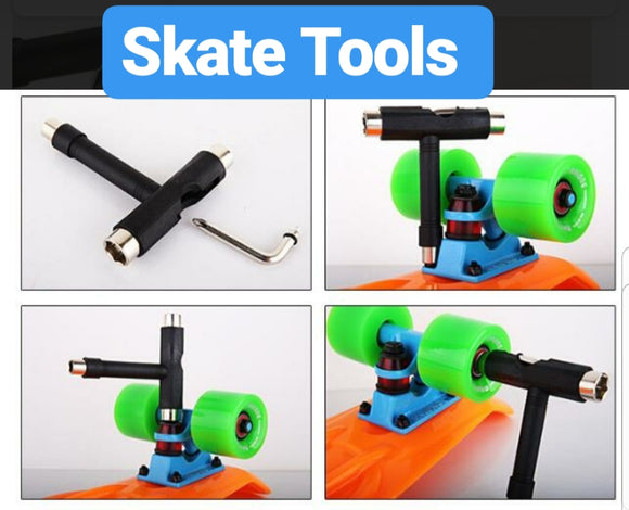 Skate Tools / Pro Scooter Park Tool, Roller Skate Tools, Y-Inline Skate, Skateboard T-Tool