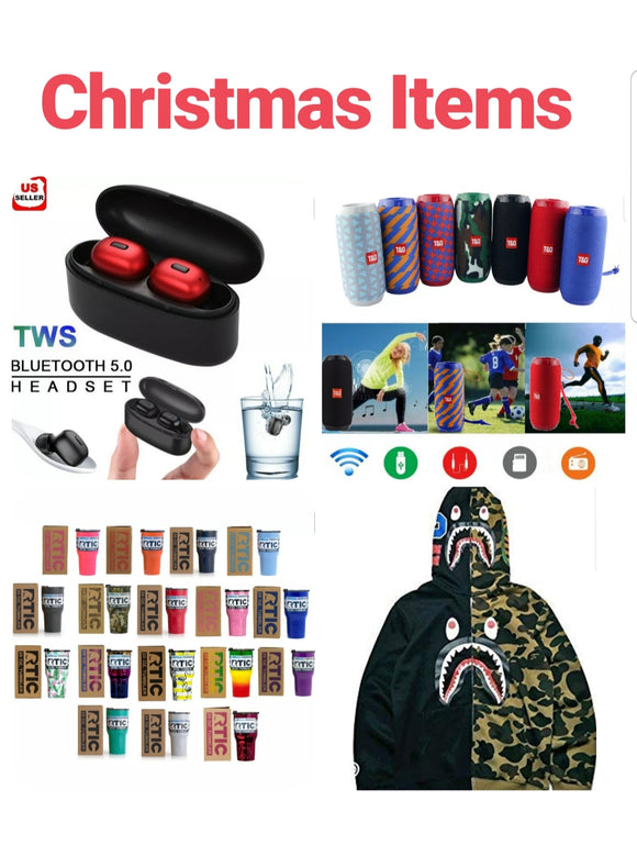 Christmas Items-Gifts, Wireless Earbuds In Ear, Bluetooth Wireless Speakers, RTIC 20 oz Stainless Steel Insulated Tumblers, Bape Ape Shark Hoodie, Cat meme yelling lady ugly christmas sweaters