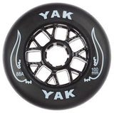 100mm rollerblade wheels, inline skate speed 8-Pack black