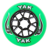 100mm rollerblade wheels, inline skate speed 8-Pack green/black