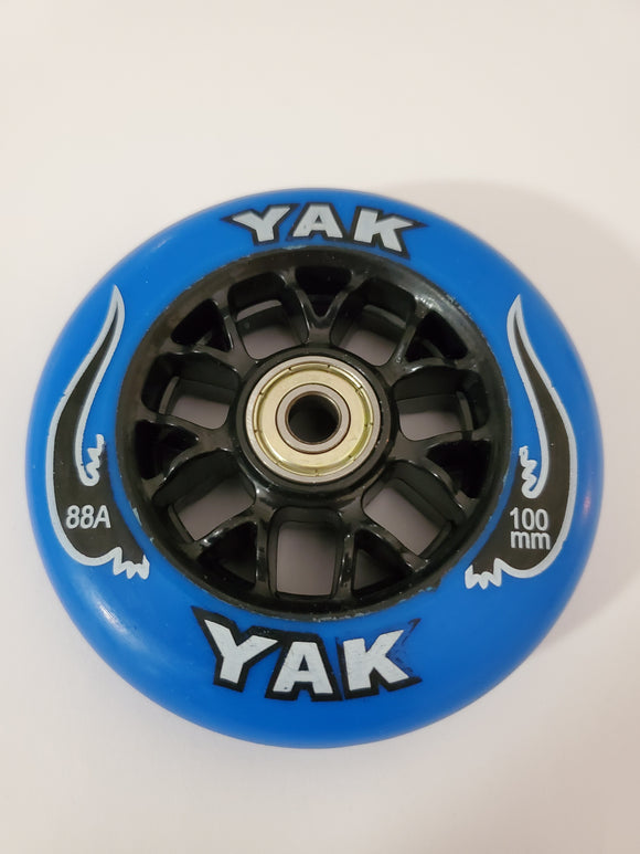 100mm 88a replacement inline skate or scooter wheels with  bearings blue black