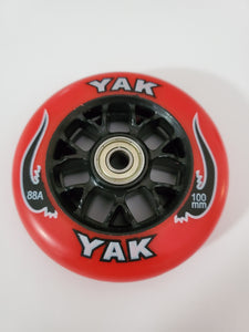 100mm 88a replacement inline skate or scooter wheels with bearings red black