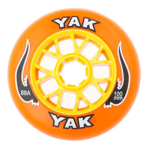 100mm rollerblade wheels, inline skate speed 8-Pack orange yellow
