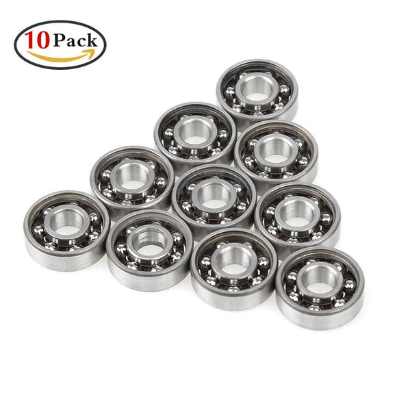 10 Skate Fidget Bearings Open Cage NOT OILED