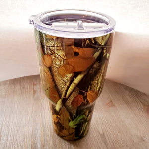 30 oz. Brown Camo Stainless Steel Tumbler Cup with LID New 2020 design