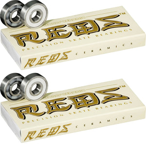 Bones Super Reds CERAMIC Skate Bearings 608-RS 16-PACK