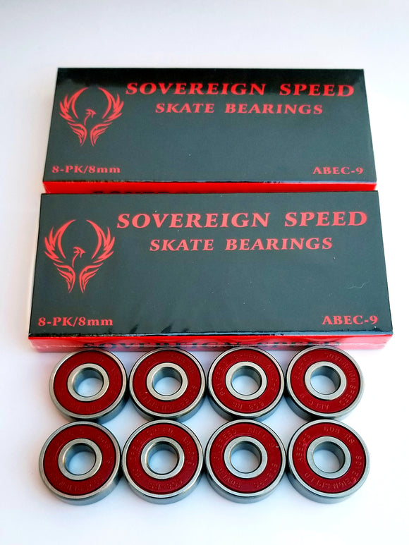 16 Pack Abec-9 Skate Bearings / 8mm inline rollerblade hockey 608rs