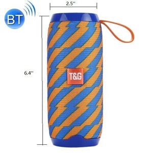 LOUD Bluetooth Speaker ORANGE-BLUE Wireless Outdoor Stereo Bass Loudspeaker USB/TF/FM Radio