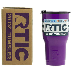 20 oz RTIC stainless steel insulated tumbler PURPLE