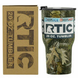 20 oz RTIC tumbler stainless steel insulated CAMO double wall