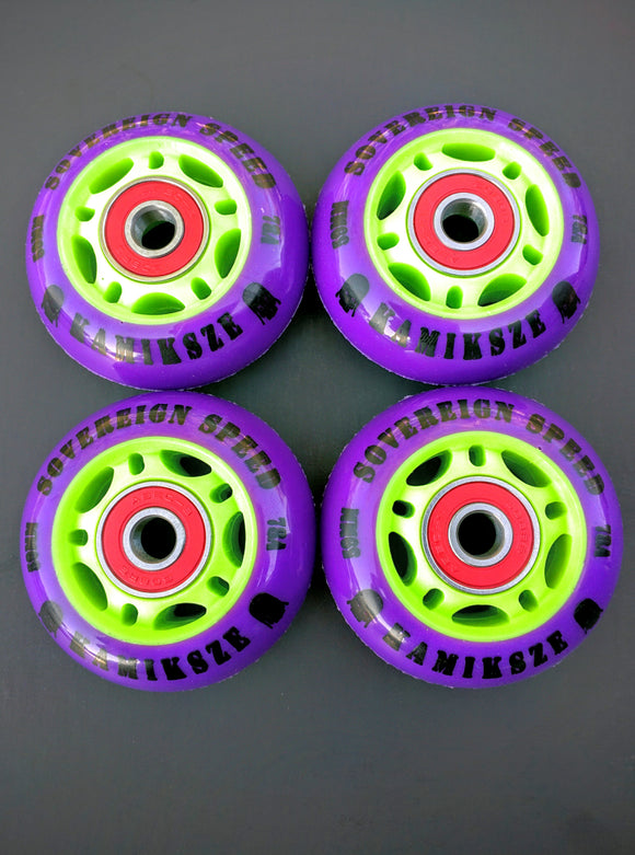 4-pack 59mm 78a kamikaze wheels with bearings