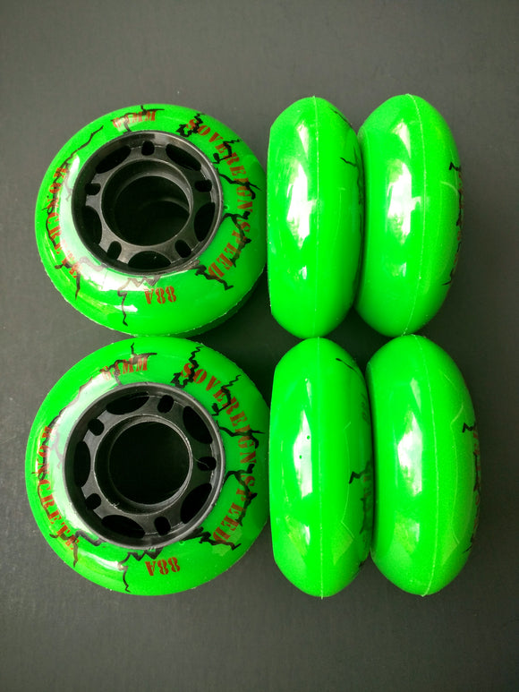 59mm / 64mm outdoor inline skate wheels, kids rollerblade hockey