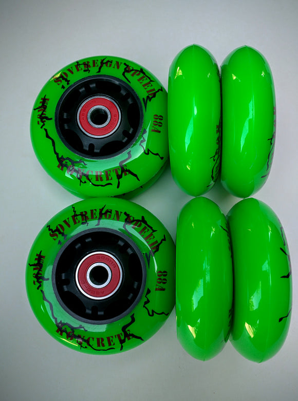 64mm outdoor inline skate wheels / rollerblade 8-pk