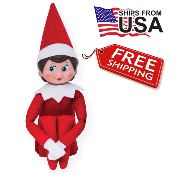 the elf on the shelf girl doll, blue eyed , christmas tradition