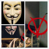 V for Vendetta Halloween Mask, guy fawkes anonymous White