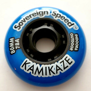 80mm Inline Skate Wheel (78a) Indoor-Outdoor , rollerblade hockey fitness - Free amazon shipping