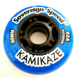 80mm 82A Soft Outdoor Replacement Inline Skate Wheel for inline skates, rollerblades, hockey & more