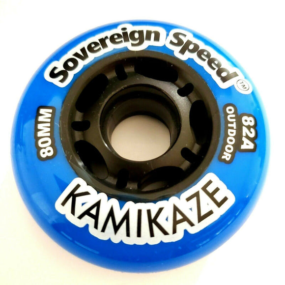 4x 80mm 82a Soft Outdoor Replacement Inline Skate Wheels FOR Inline Skates, Rollerblades, Hockey and more