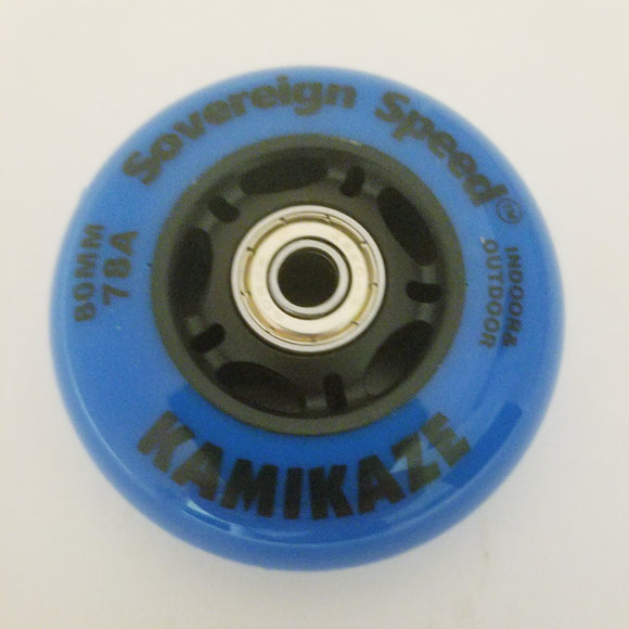 80mm rollerblade wheels with bearings, roller hockey fitness 78a