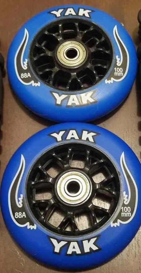 100mm scooter or inline skate outdoor wheels blue 88a