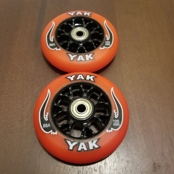 100mm scooter or inline skate outdoor wheels red 88a