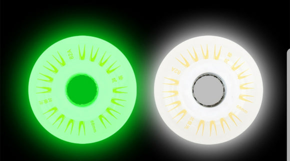 76mm Outdoor replacement LED Inline Skate or Ripstik wheels