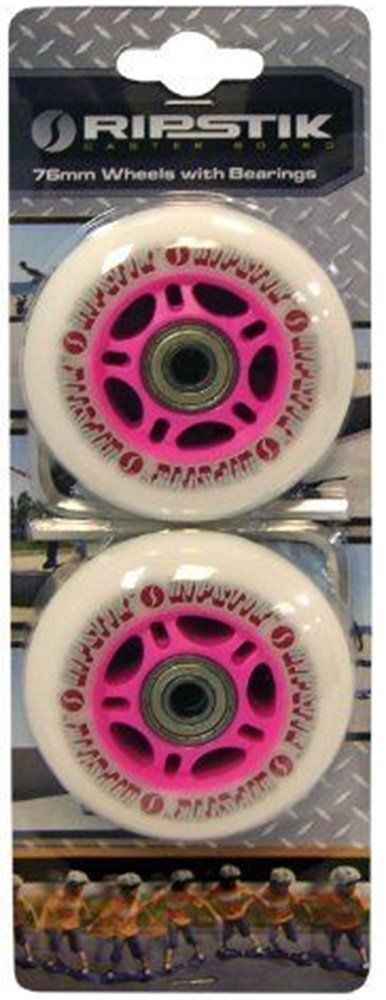 2x 76mm Razor RipStik Replacement Outdoor Wheels / casterboard inline skate white pink