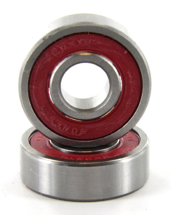 red Abec-9 skateboard bearings, 2 pack