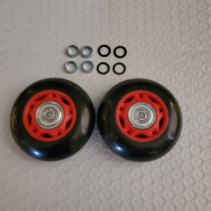 2x 70mm 88a inline/luggage wheels with 608zz bearings