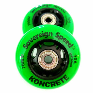 outdoor 76mm replacement inline skate or RipStik wheels 2 pack