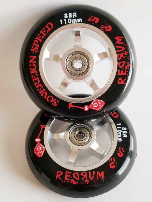 110mm Pro Scooter Wheel with Bearings PAIR