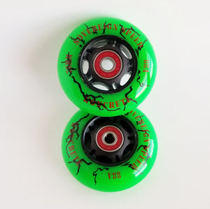 2x 80mm mini scooter/ripstik/inline wheels with bearings