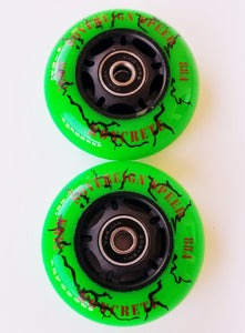 outdoor 76mm replacement inline skate or RipStik wheels 2x