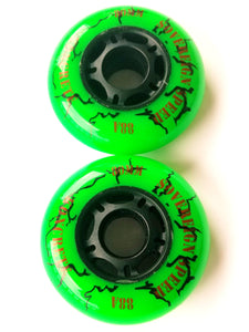 Outdoor Inline Skate Wheel, rollerblade hockey 2x 64mm